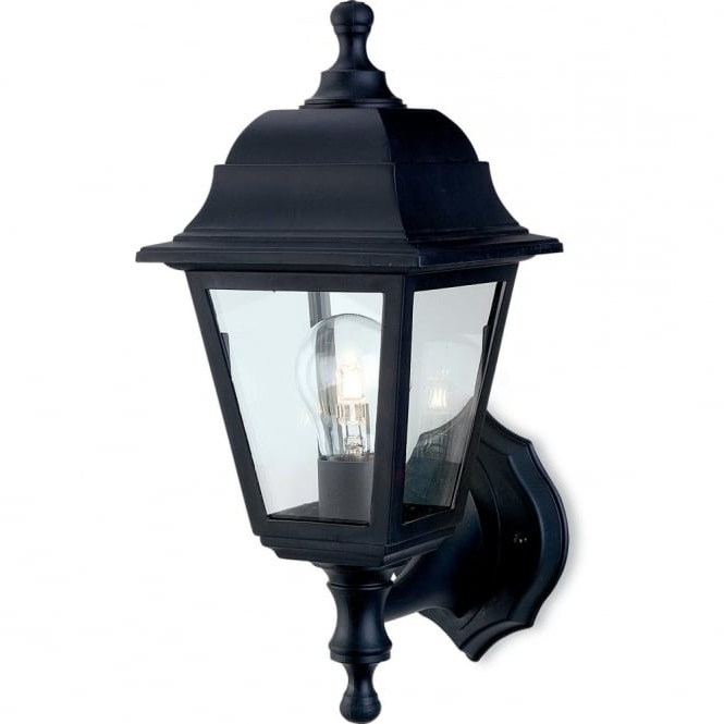 Current Firstlight 8346bk Traditional Black Coach Outdoor Up Pertaining To Heitman Black Wall Lanterns (View 7 of 20)