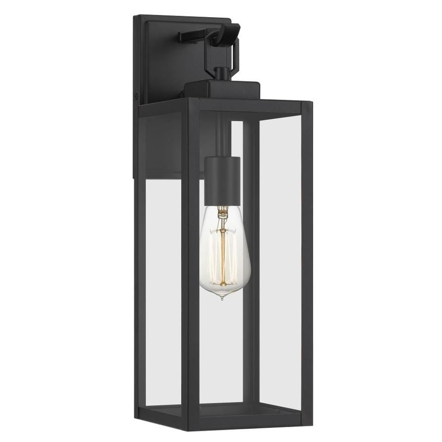Current Flat Outdoor Wall Lights At Lowes Throughout Armanno Matte Black Wall Lanterns (View 2 of 20)