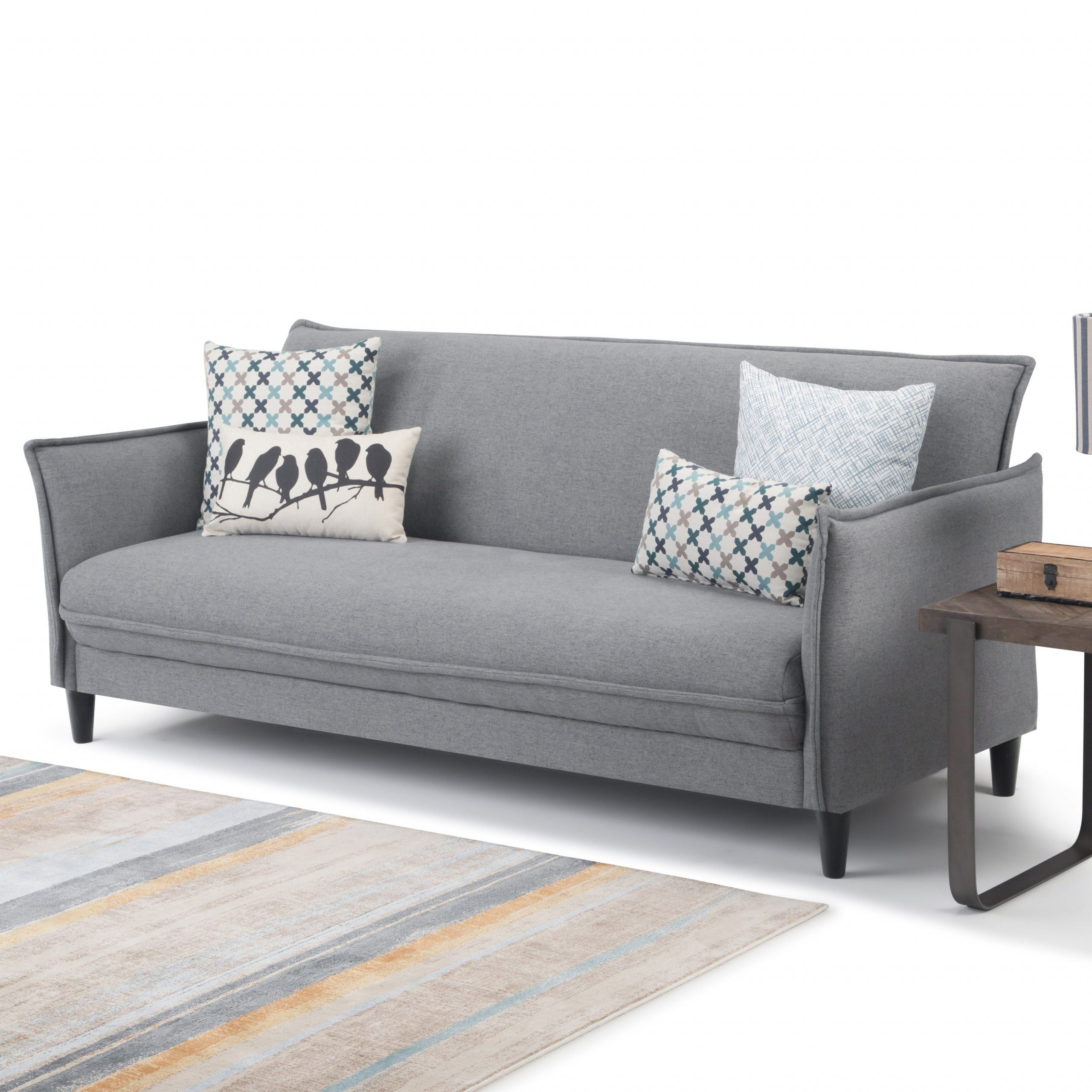 Current Gneiss Modern Linen Sectional Sofas Slate Gray With Wyndenhall Kichler Contemporary 81 Inch Wide Sofa Bed In (View 2 of 20)