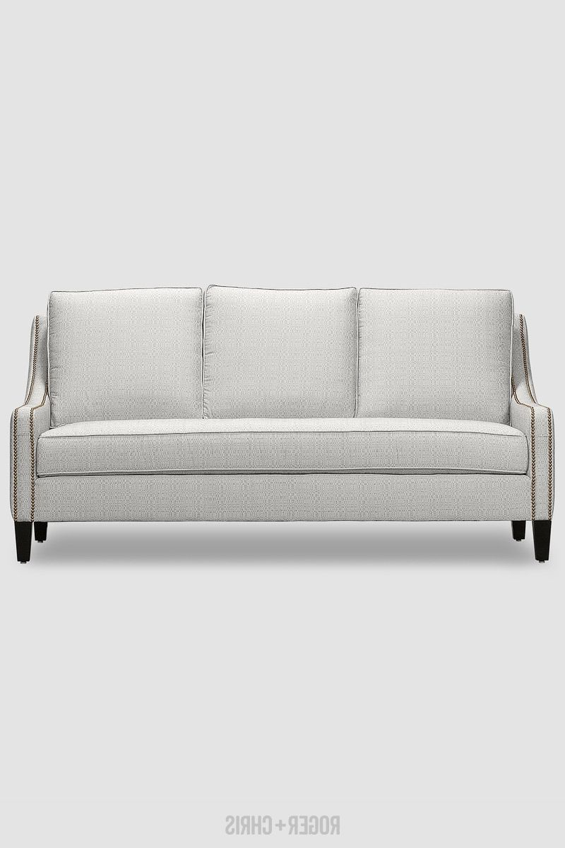 Current Gracie Navy Sofas Inside Gracie Compact Sofa In Mitt White (View 17 of 20)