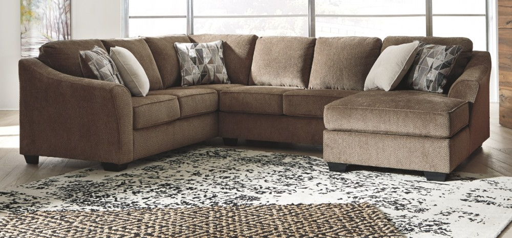 Current Graftin – 3 Piece Sectional With Chaise (View 15 of 20)