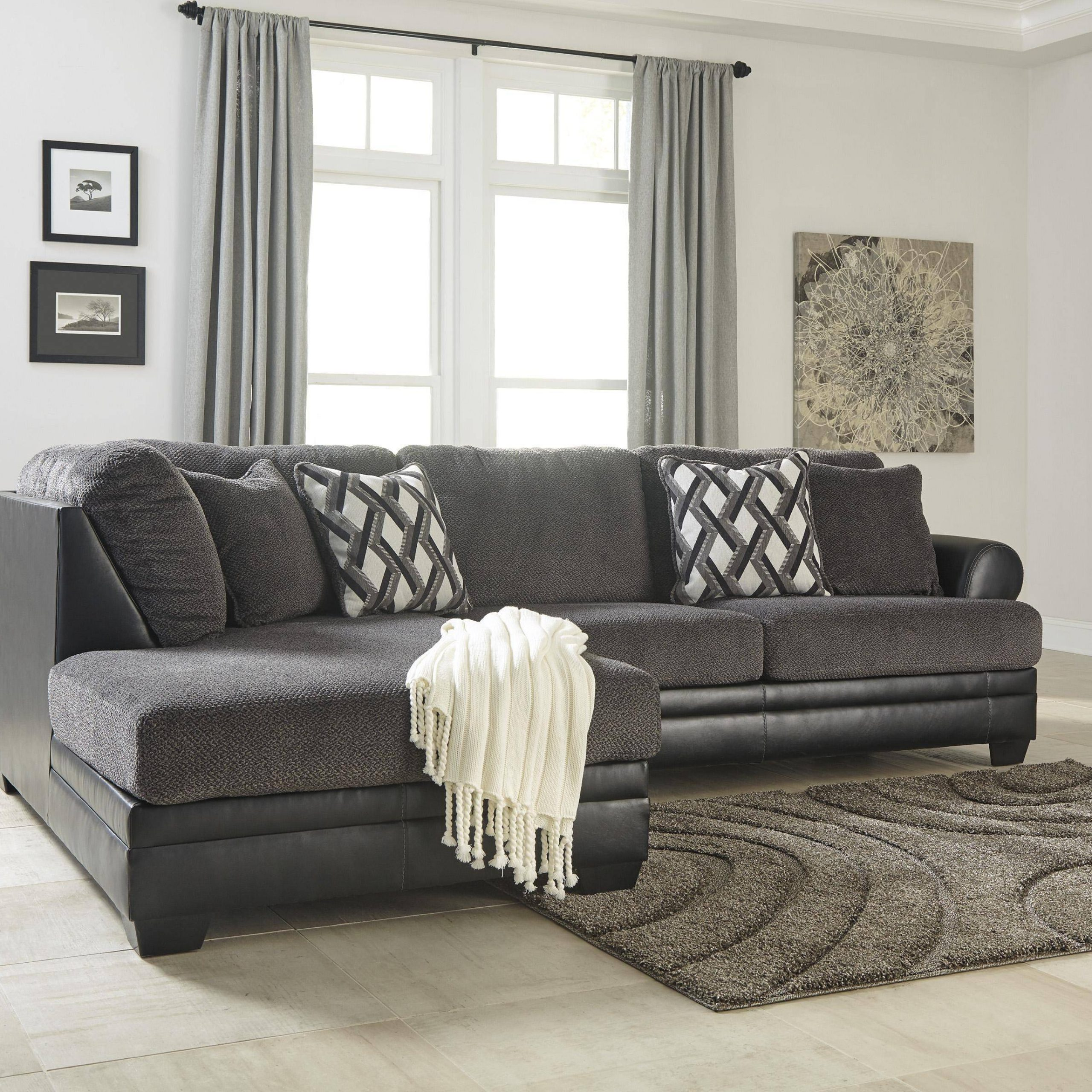 Current Hannah Right Sectional Sofas Regarding Buy Ashley Kumasi Sectional Sofa Set Right Hand Chase In (View 7 of 20)