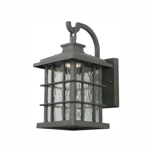 Current Home Decorators Collection Summit Ridge Collection Zinc Inside Edenfield Water Glass Outdoor Wall Lanterns With Dusk To Dawn (View 1 of 20)