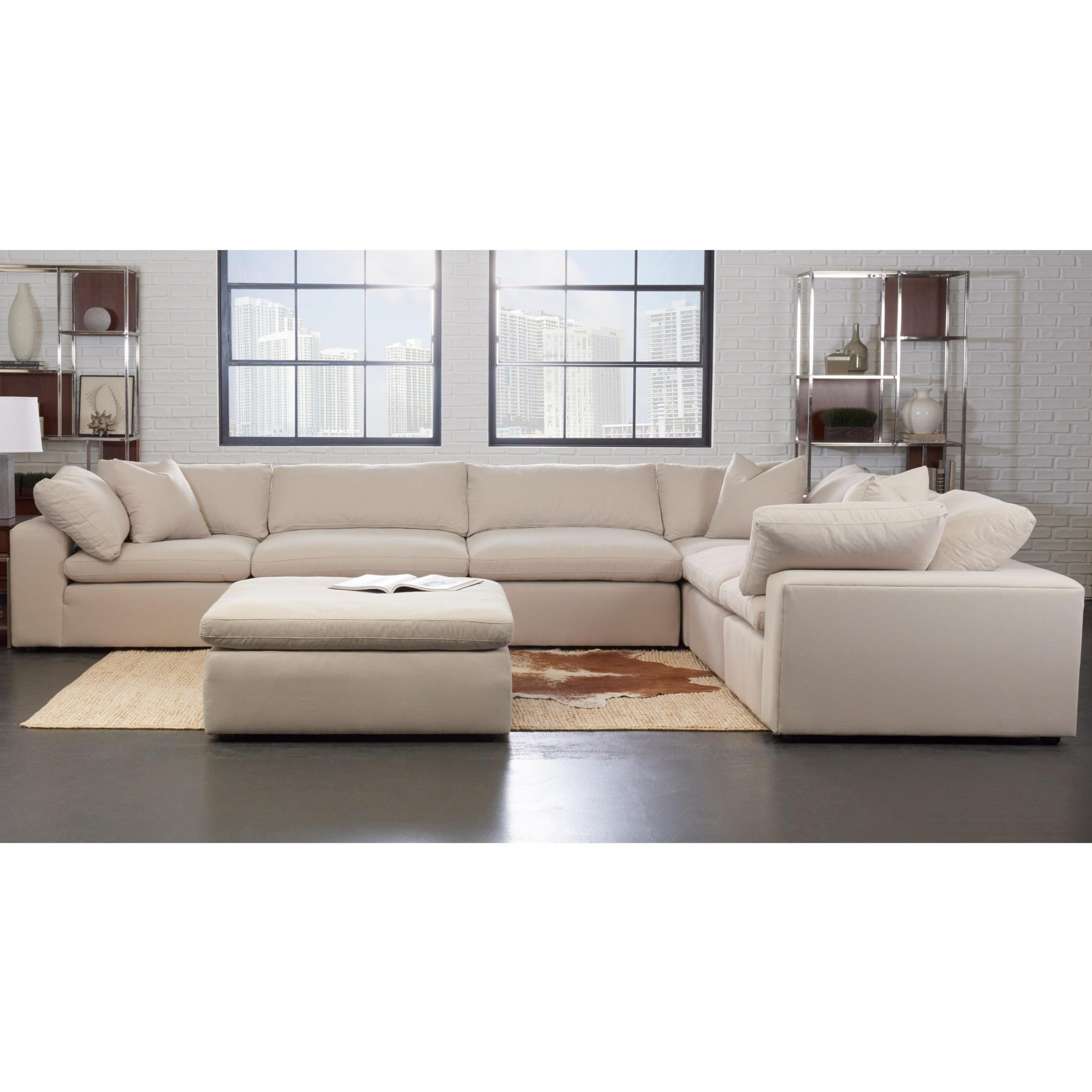 Current Klaussner Monterey Contemporary 6 Pc Modular Sectional Pertaining To Paul Modular Sectional Sofas Blue (View 18 of 20)
