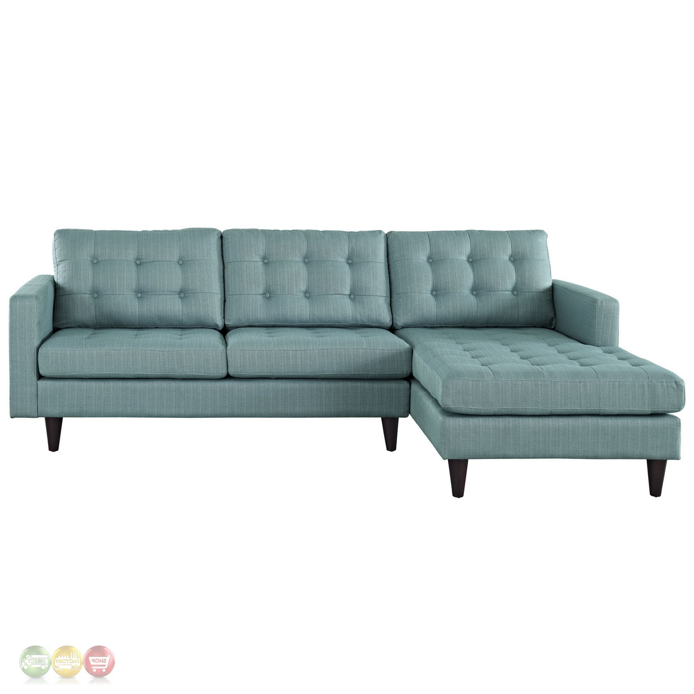 Current Mid Century Modern Empress Left Facing Button Tufted With Regard To Florence Mid Century Modern Left Sectional Sofas (View 6 of 20)