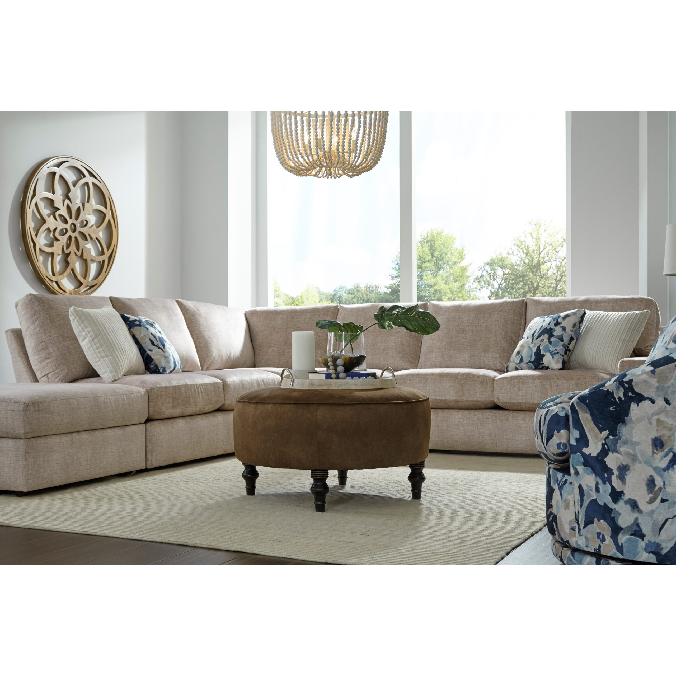 Current Palisades Reversible Small Space Sectional Sofas With Storage For Best Home Furnishings Dovely Casual Five Seat Sectional (View 4 of 20)