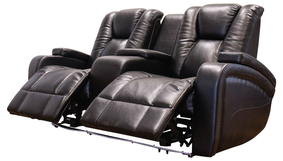 Current Panther Fire Leather Dual Power Reclining Sofas With Regard To Panther Leather Power Reclining Sofa Console Loveseat (View 11 of 20)
