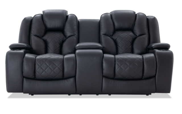 Current Panther Leather Power Reclining Sofa Console Loveseat Regarding Panther Fire Leather Dual Power Reclining Sofas (View 10 of 20)