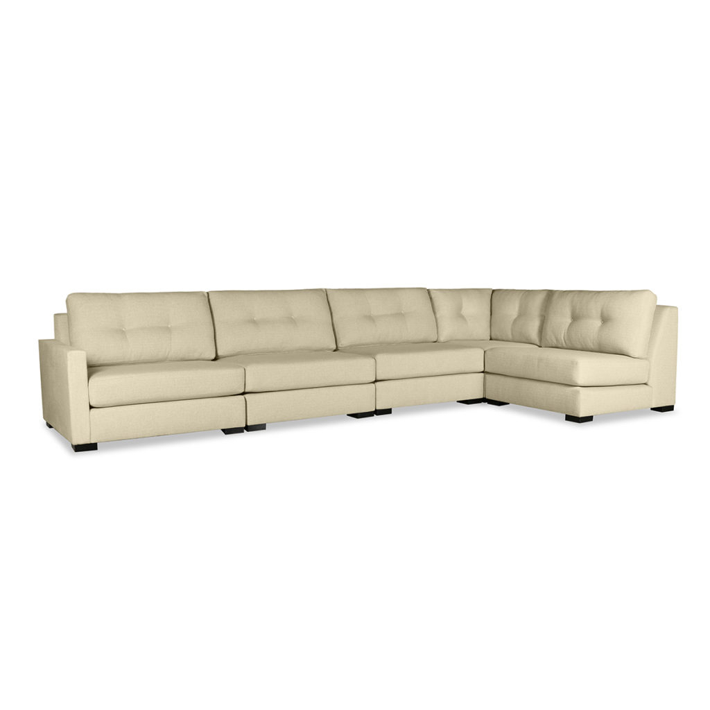 Current Wilton Fabric Sectional Sofas In Wilton Buttoned Modular Left L Shape Sectional (View 5 of 20)
