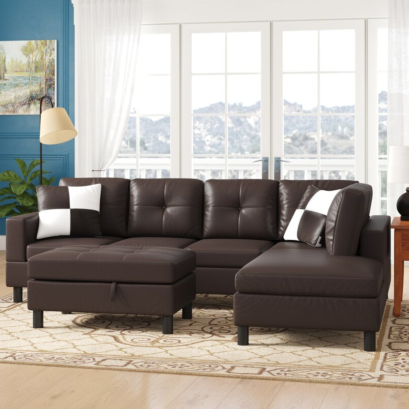 """Current Winston Sofa Sectional Sofas In Winston Porter Roughton 103"""" Wide Modular Sofa & Chaise (View 13 of 20)"""