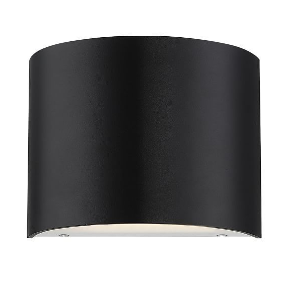 Curved Metal Led Sconce In  (View 4 of 20)