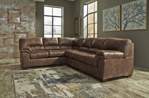 Dark Living Room Sectional – Ashley Bladen Coffee Left Arm With Trendy 2pc Maddox Left Arm Facing Sectional Sofas With Chaise Brown (View 1 of 20)