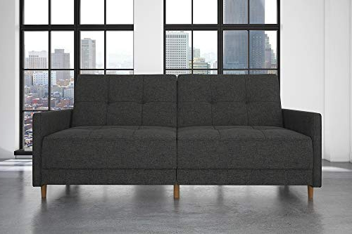 Debbie Coil Sectional Futon Sofas In Most Recently Released Dhp Andora Coil Futon Sofa Bed Couch With Mid Century (View 5 of 20)