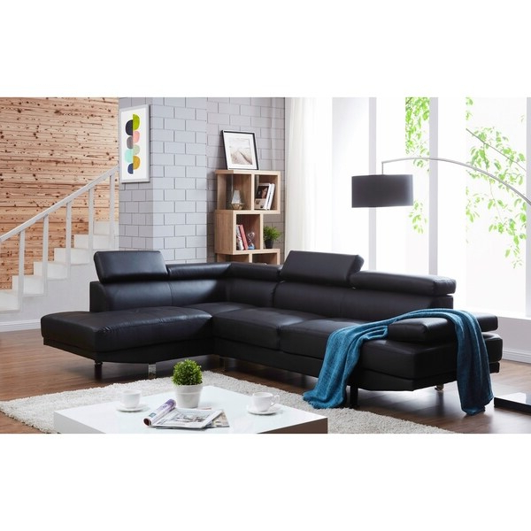 Debbie Coil Sectional Futon Sofas Throughout Current Debbie Faux Leather Right Facing Sectional Sofa – On Sale (View 17 of 20)