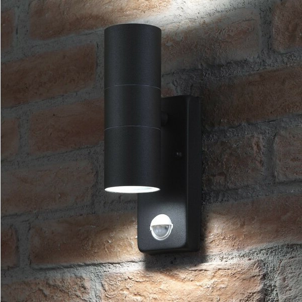 Dedmon Outdoor Armed Sconces Intended For Trendy Dakota Fields Garrity Led Outdoor Armed Sconce With Motion (View 20 of 20)