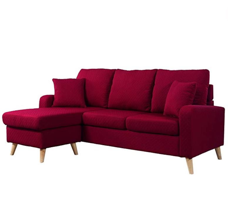 Divano Roma Furniture Mid Century Modern Linen Fabric Inside Popular Verona Mid Century Reversible Sectional Sofas (View 15 of 20)