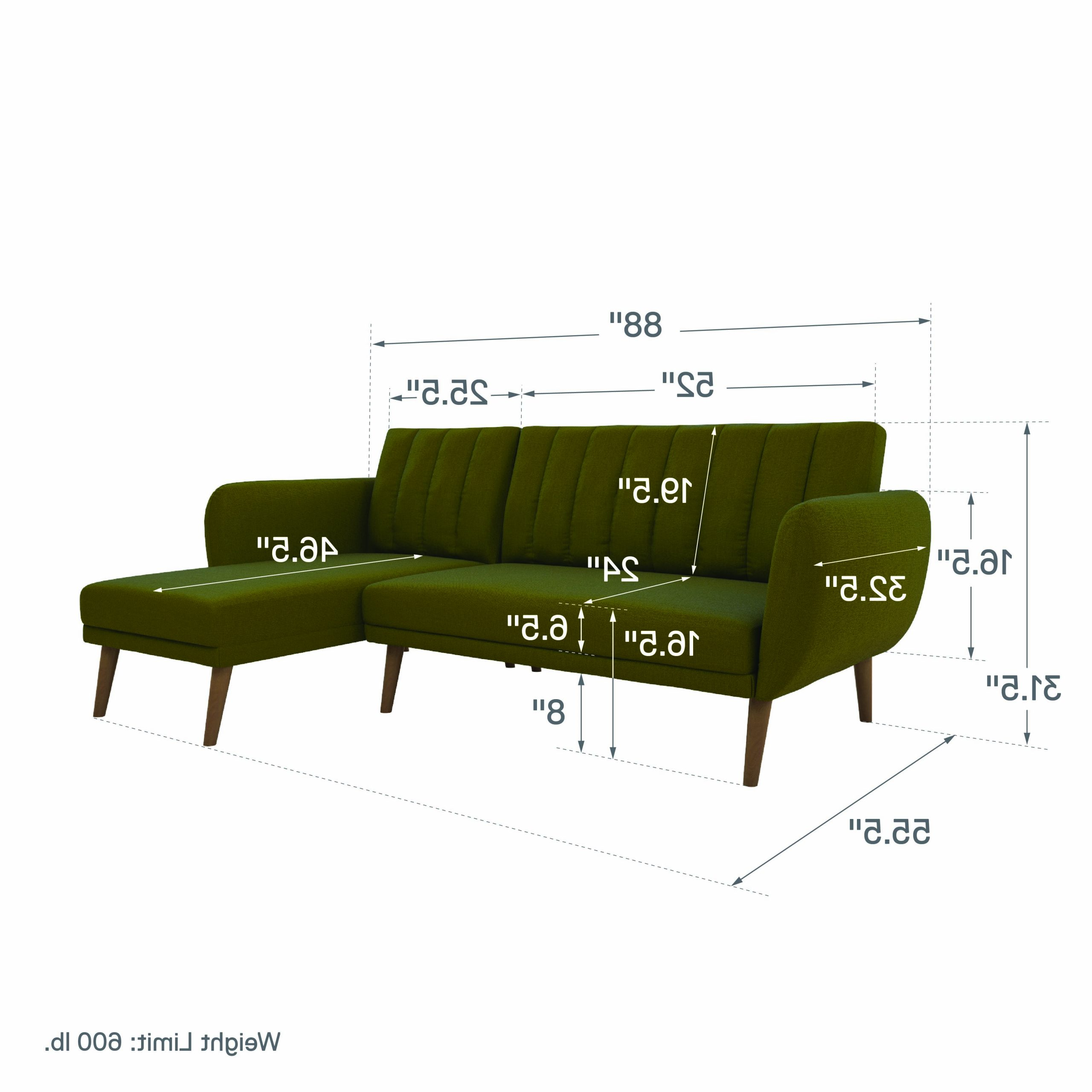 Dorel Home Products Dorel Brittany Sectional Sofa Bed Intended For Famous Brittany Sectional Futon Sofas (View 20 of 20)