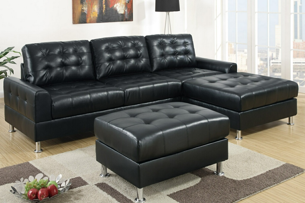 Double Chaise Sectional Sofas: Type And Finishing – Homesfeed With Regard To Fashionable 2pc Connel Modern Chaise Sectional Sofas Black (View 20 of 20)