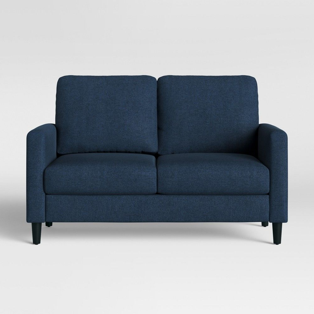 Dove Mid Century Sectional Sofas Dark Blue For Most Current Bellingham Loveseat Dark Blue – Project  (View 6 of 20)