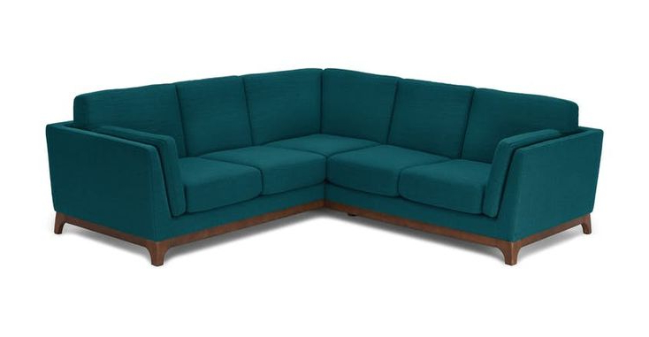 Dove Mid Century Sectional Sofas Dark Blue With Most Recent Ceni Deep Sea Blue Corner Sectional In  (View 17 of 20)