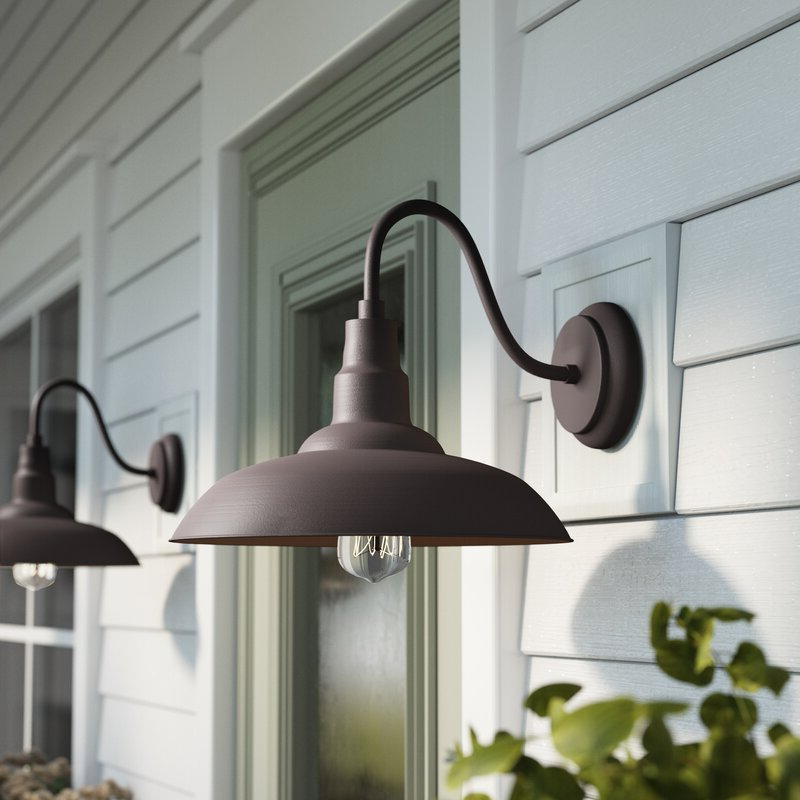 Download Outdoor Farmhouse Lighting Fixtures Background With Most Up To Date Rickey Black Outdoor Barn Lights (View 9 of 20)