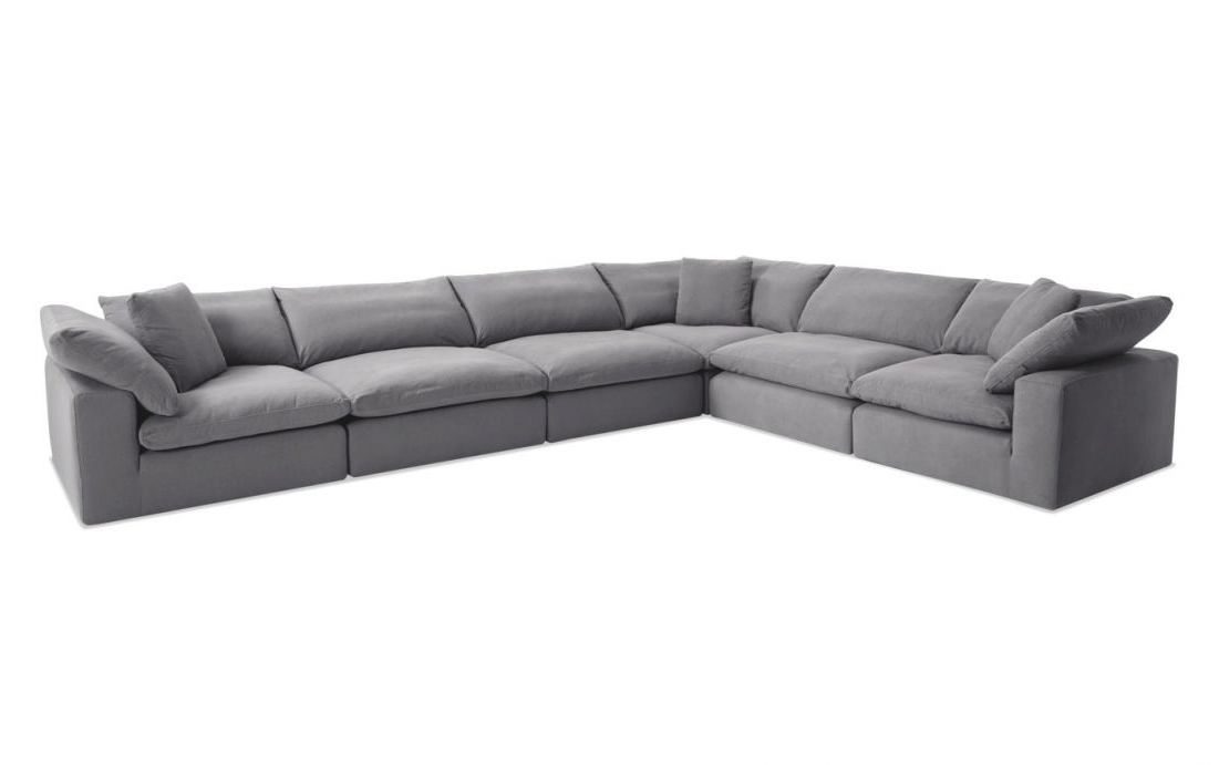 Dream Navy 2 Piece Modular Sofas Throughout Most Popular Dream Gray Modular 6 Piece Sectional Pertaining To (View 13 of 20)
