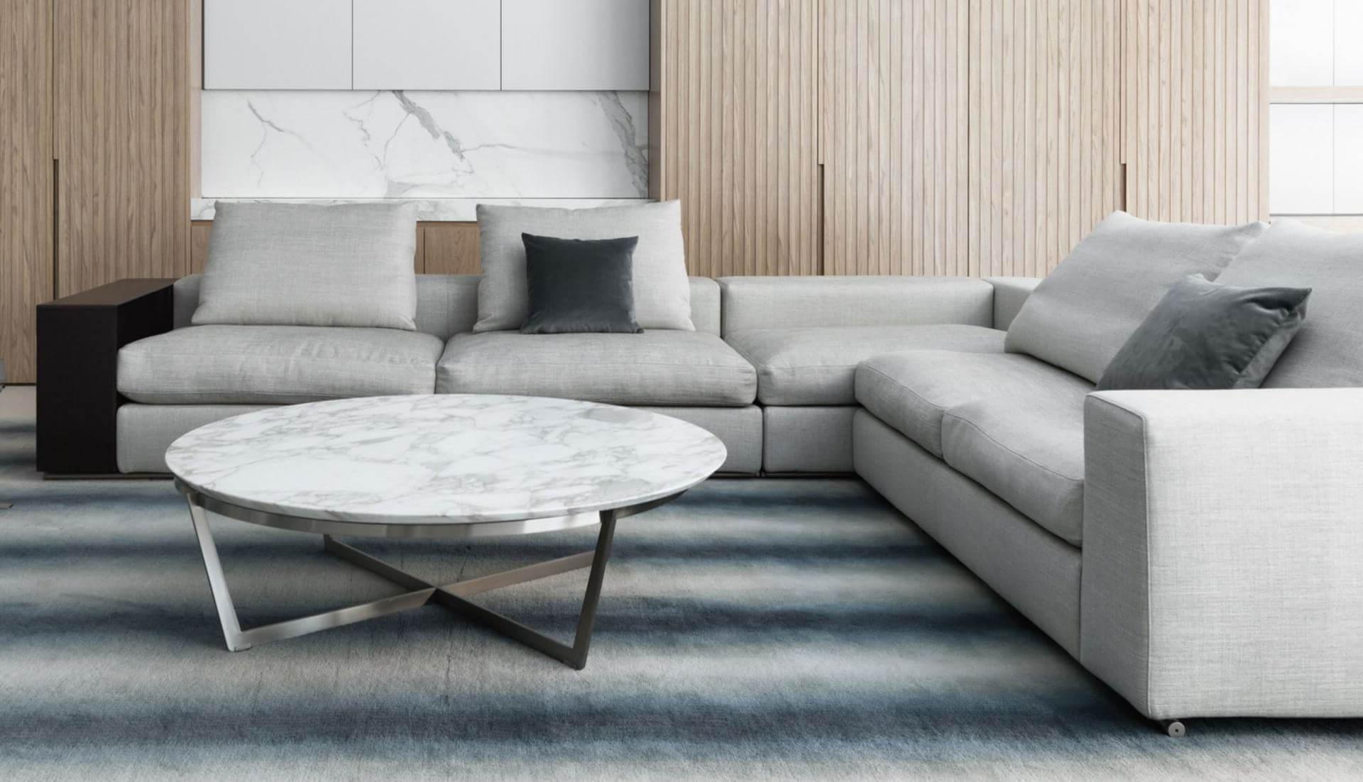 Dream Navy 2 Piece Modular Sofas With Regard To 2018 Flexform Groundpiece Modular Sofa – Dream Design Interiors Ltd (View 4 of 20)