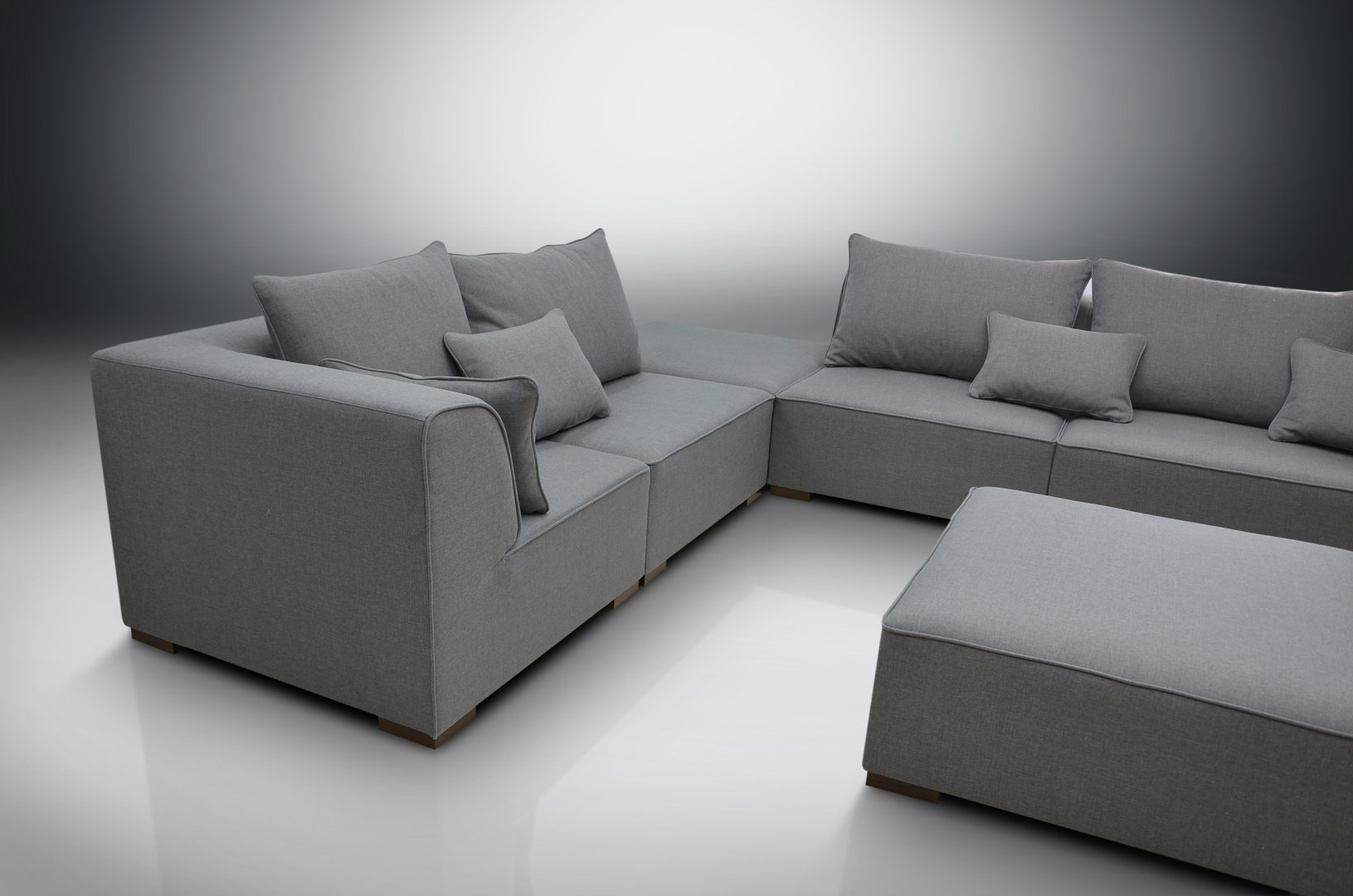 Dream Navy 3 Piece Modular Sofas Within Most Recently Released Modular Sofa Primo, 2xcorners, 3xchairs, 2xfootstools (View 12 of 20)