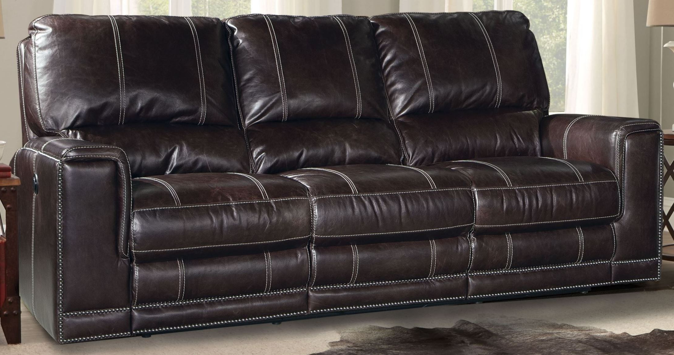 Dual Power Reclining Sofas Throughout Favorite Salinger Sangria Dual Power Reclining Sofa From Parker (View 7 of 20)
