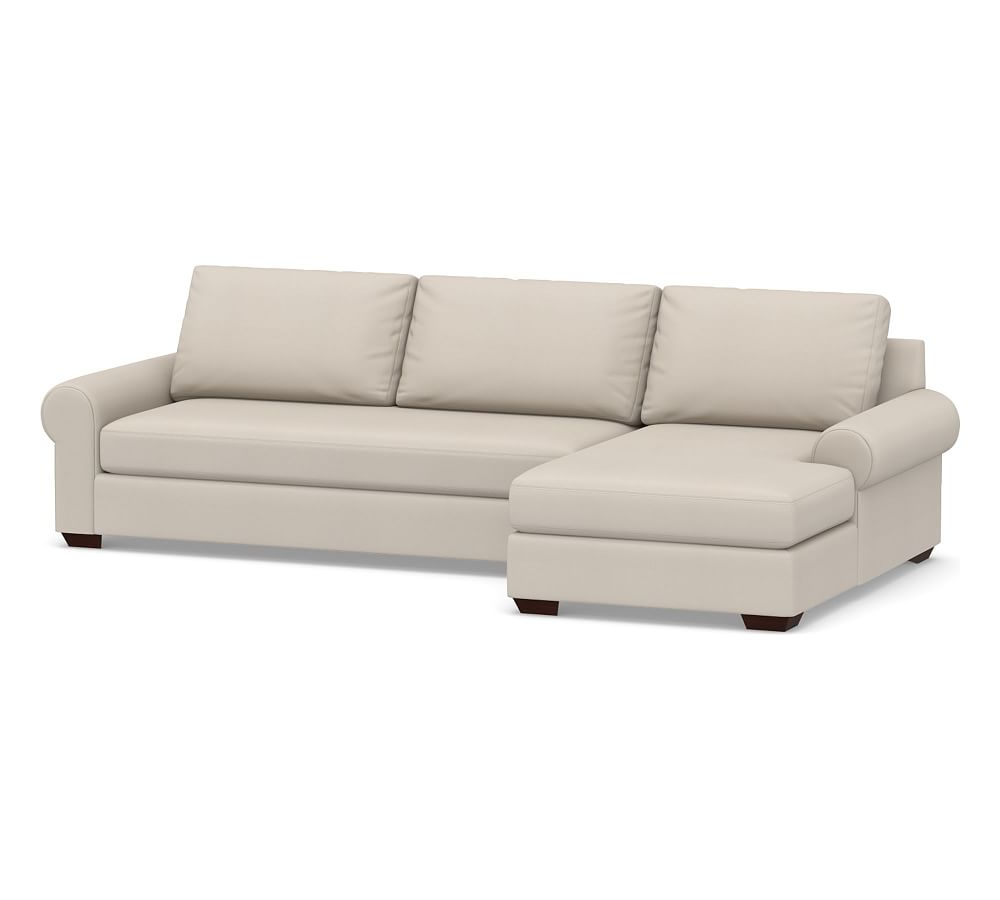 Dulce Right Sectional Sofas Twill Stone For 2019 Big Sur Roll Arm Upholstered Right Arm Sofa With Chaise (View 1 of 20)