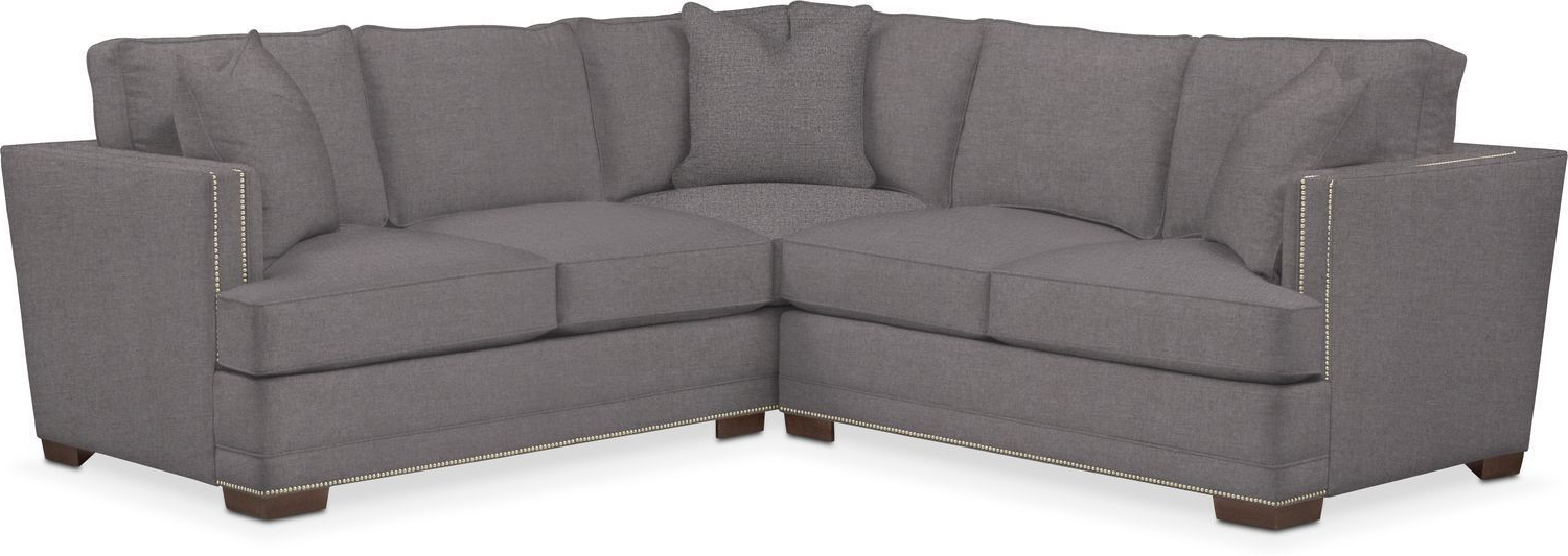 Dulce Right Sectional Sofas Twill Stone With Regard To Widely Used Kroehler Arden Cumulus Performance 2 Piece Small Sectional (View 18 of 20)