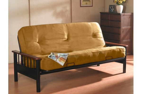 Dynasty Futon With Orthopedic Pocket Coil Mattress Inside Preferred Debbie Coil Sectional Futon Sofas (View 7 of 20)