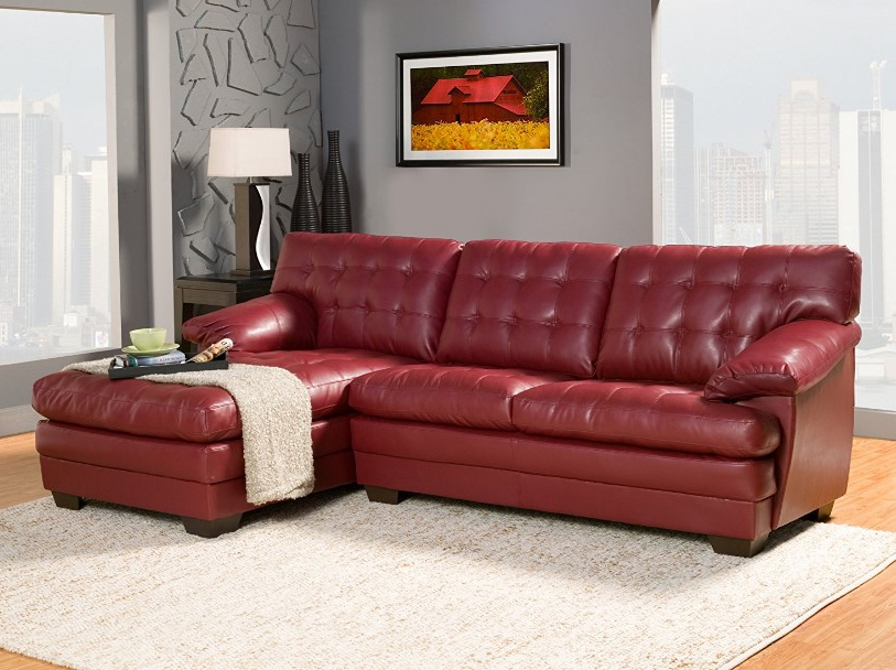 ⭐️ 7 Best Red Leather Sofa Reviews In 2017 ⋆ Best Cheap With Favorite Red Sofas (View 11 of 20)