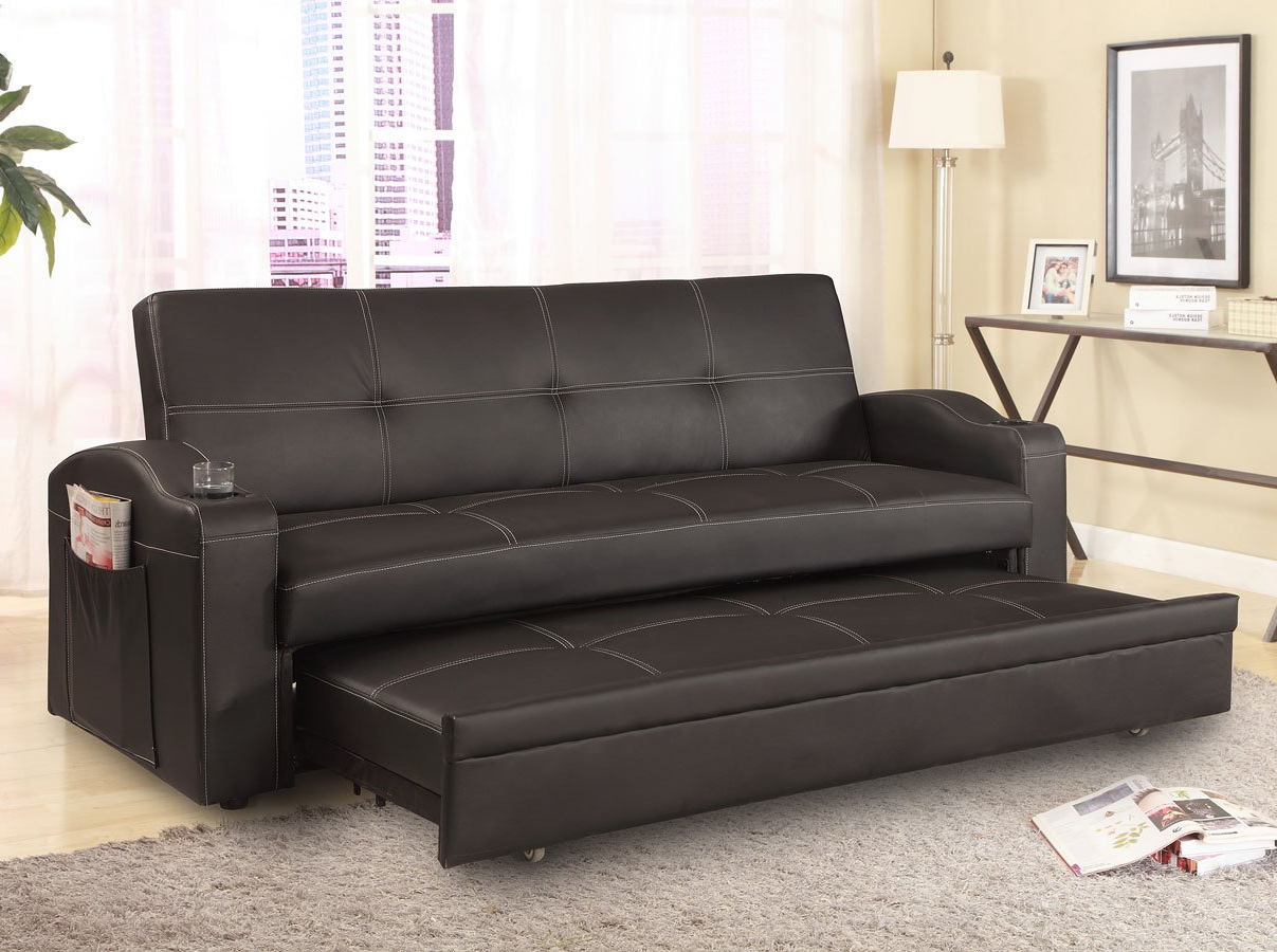 Easton Adjustable Sofa Bed Crown Mark Furniture Intended For Well Known Easton Small Space Sectional Futon Sofas (View 6 of 20)