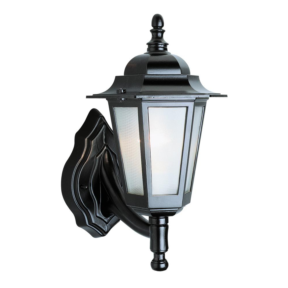 Edinburg Black Outdoor Wall Lanterns Intended For Most Recently Released Bel Air Lighting Alexander 1 Light Black Copper Outdoor (View 5 of 20)