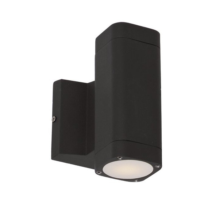 Edith 2 Bulb Outdoor Armed Sconces In Most Current Latitude Run® Terron 2 – Bulb Integrated Led Glass Outdoor (View 18 of 20)
