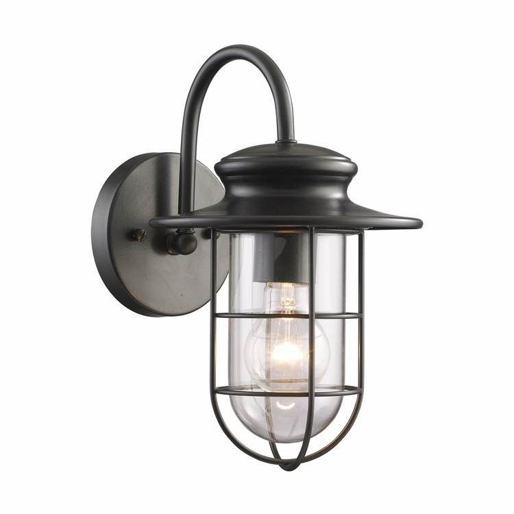 Elk Lighting – Portside 1 Light Outdoor Wall Sconce In Pertaining To Most Up To Date Mccay Matte Black Outdoor Wall Lanterns (View 2 of 20)