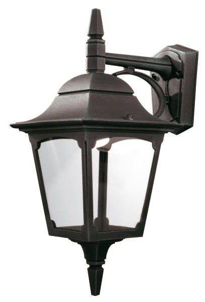 Elstead Chapel 1 Light Downward Outdoor Wall Lantern Black Throughout Famous Powell Outdoor Wall Lanterns (View 14 of 20)