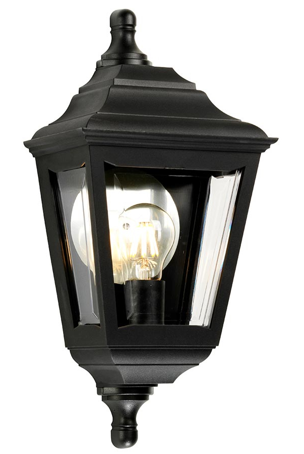 Elstead Kerry Corrosion Proof Flush Outdoor Wall Lantern Black Throughout Popular Ciotti Black Outdoor Wall Lanterns (View 8 of 20)