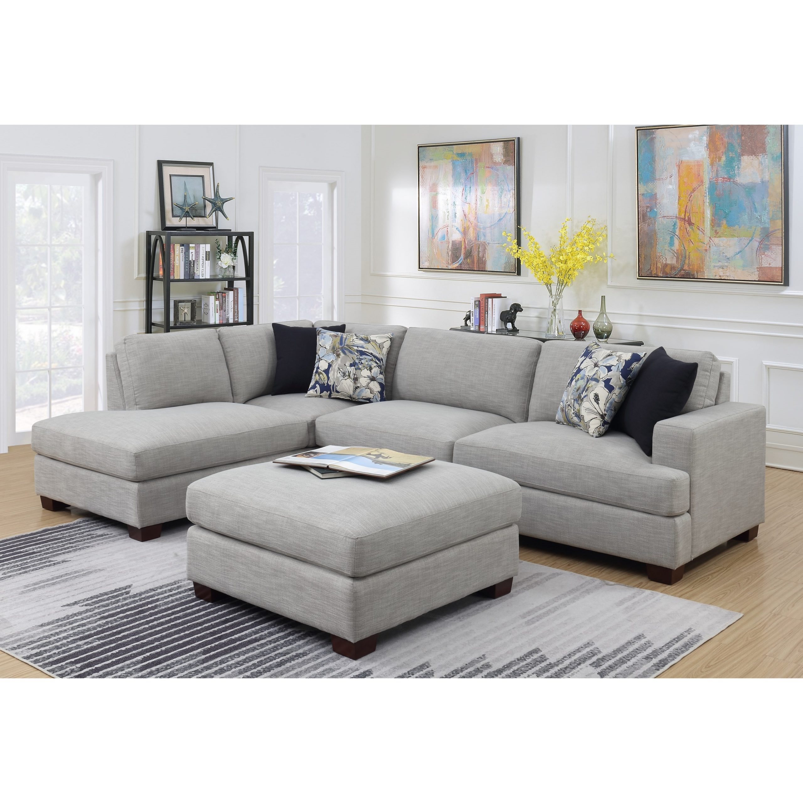 Emerald Vernon Contemporary 2 Piece Sectional Sofa With Pertaining To Most Popular 2pc Connel Modern Chaise Sectional Sofas Black (View 1 of 20)