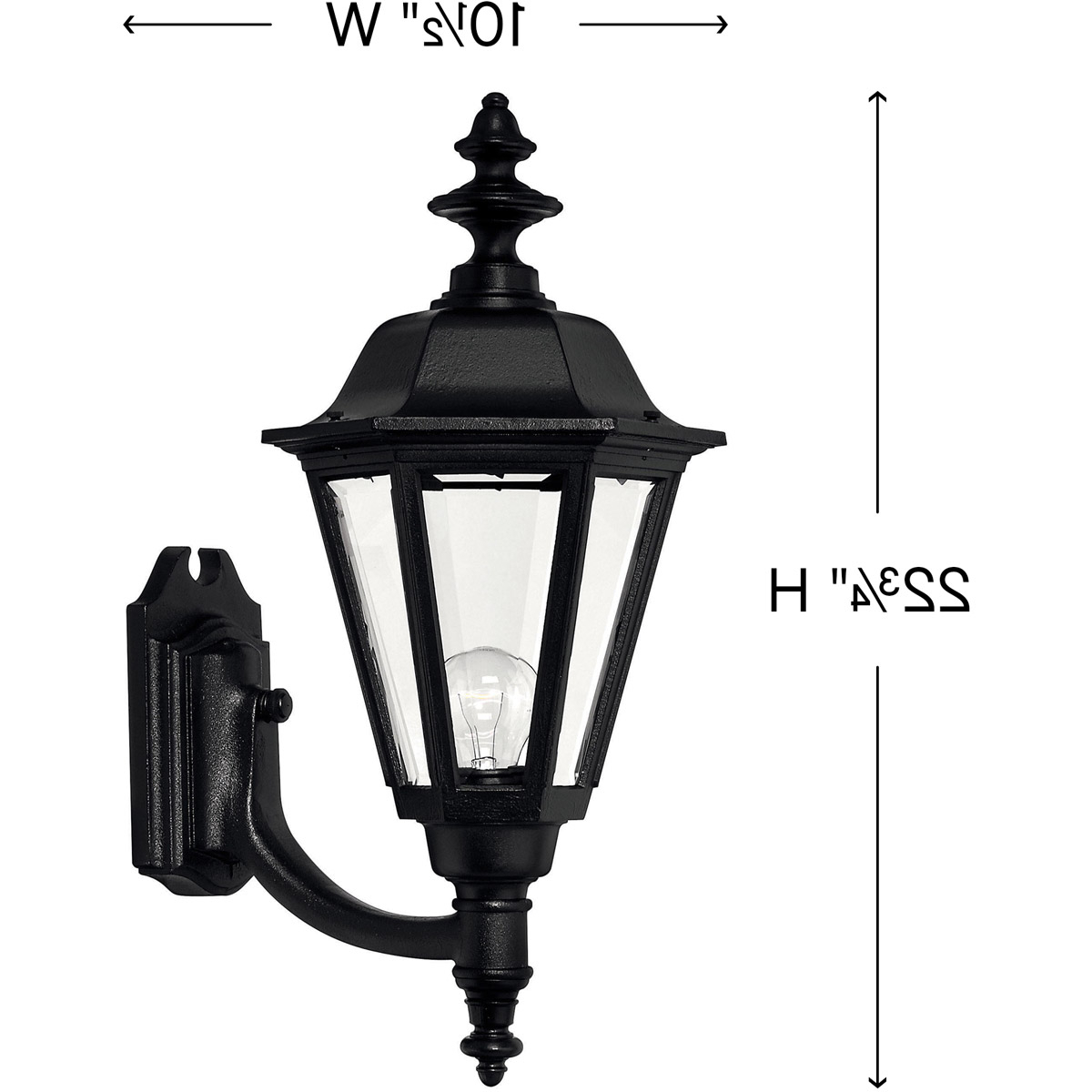 Esquina Powder Coated Black Outdoor Wall Lanterns Inside Most Recent Hinkley Lighting 1449bk Manor House Outdoor Wall Light (View 9 of 20)