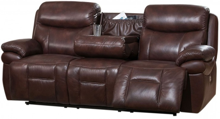Expedition Brown Power Reclining Sofas Pertaining To Most Current Summerlands Ii Brown Adjustable Headrest Power Reclining (View 16 of 20)