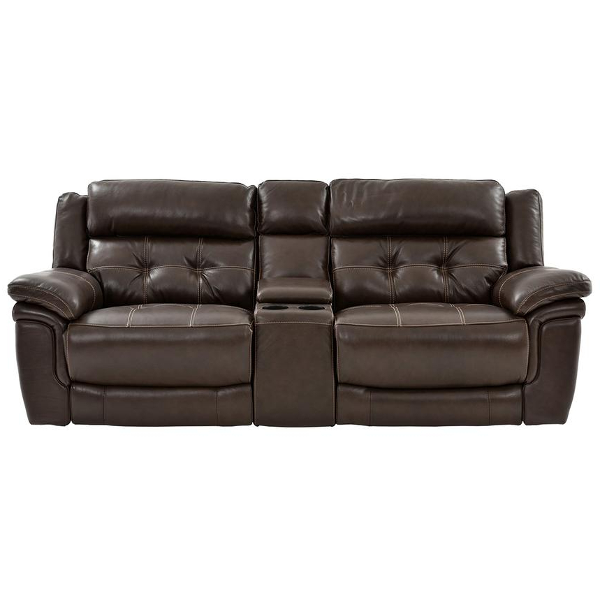 Expedition Brown Power Reclining Sofas With Most Current Stallion Brown Leather Power Reclining Sofa W/console (View 12 of 20)