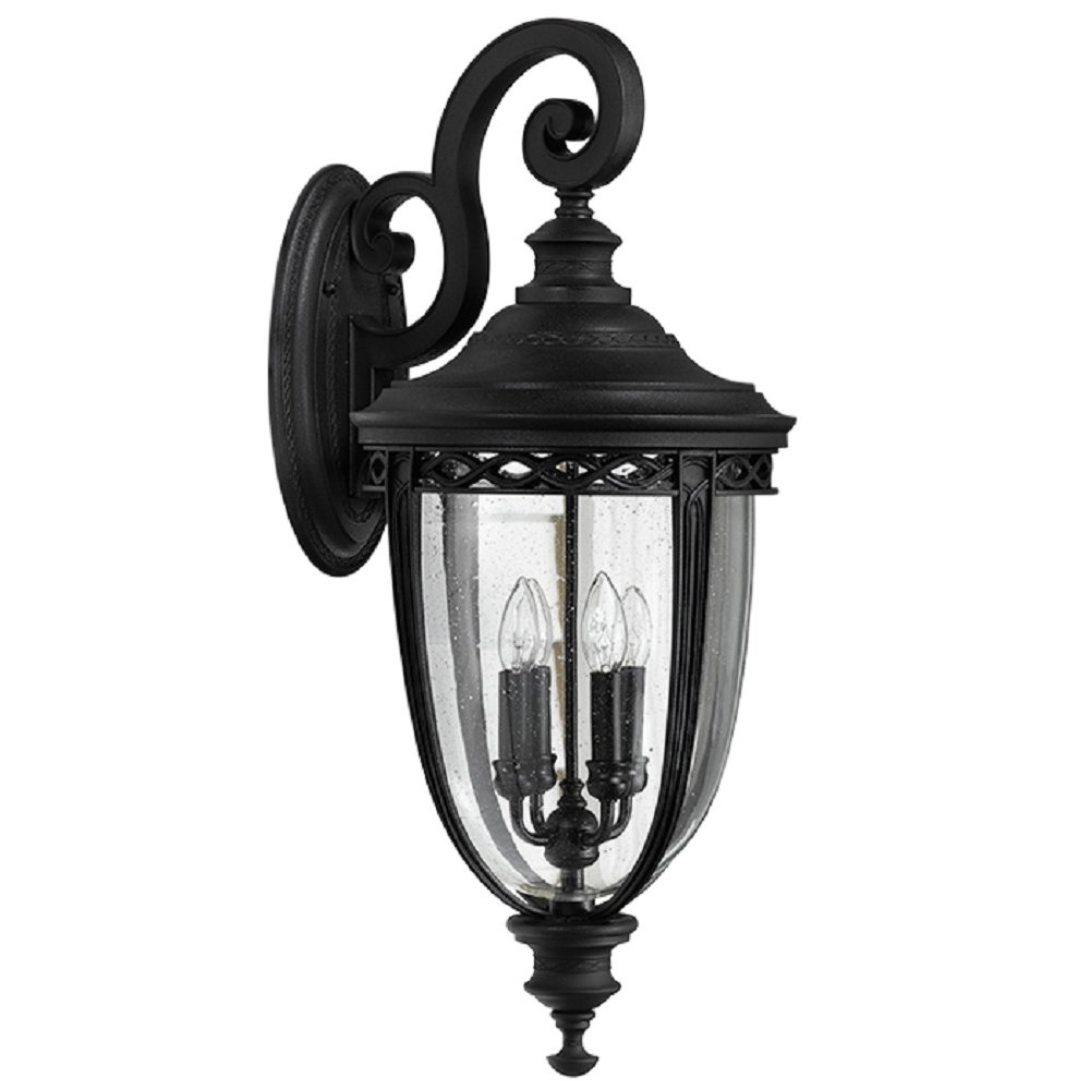 Extra Large Traditional Exterior Garden Wall Light, Black With Most Recent Rockmeade Black Outdoor Wall Lanterns (View 16 of 20)