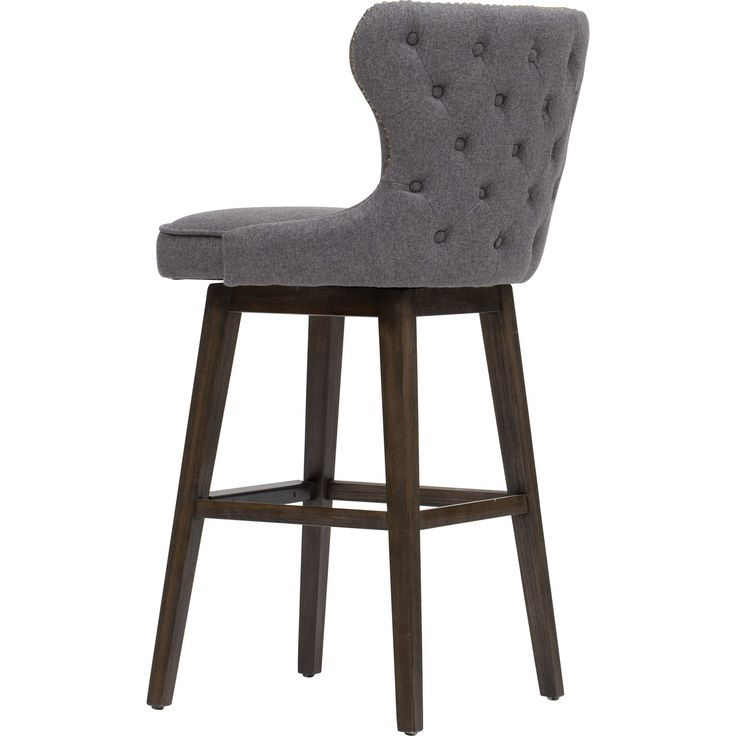 Famous Ariana Swivel Bar Stool, Dark Grey – Dining Stools Intended For Antonio Light Gray Leather Sofas (View 1 of 20)