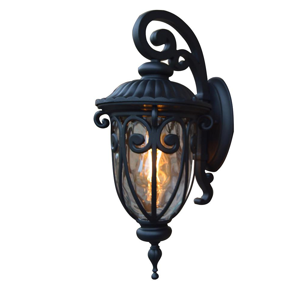Famous Bellefield Black Outdoor Wall Lanterns Within Y Decor Hailee 1 Light Matte Black Outdoor Wall Lantern (View 18 of 20)
