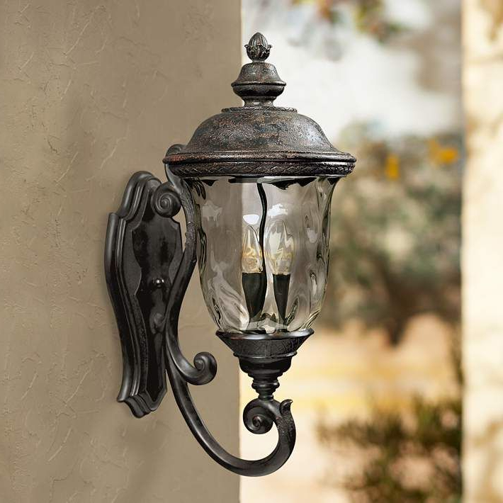 """Famous Chicopee 2 – Bulb Glass Outdoor Wall Lanterns For Carriage House Collection 26 1/2"""" High Outdoor Wall Light (View 5 of 20)"""