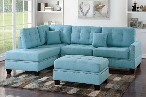 Famous Clifton Reversible Sectional Sofas With Pillows For Turquoise Sectional Sofa Plush Back Pillow Reversible Chaise (View 19 of 20)
