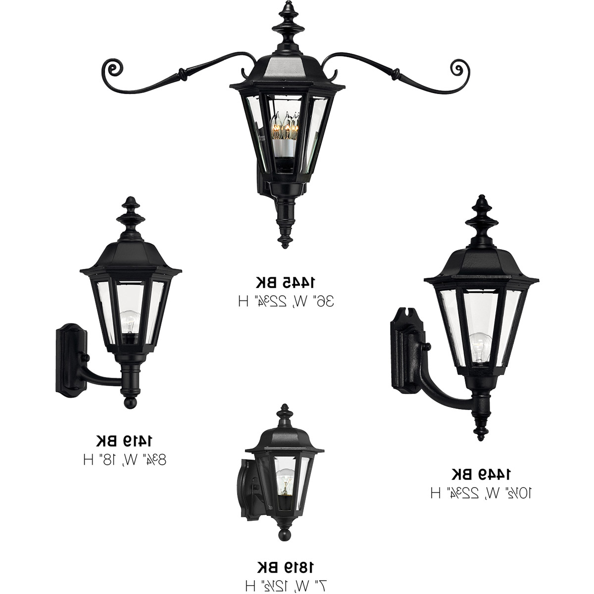 Famous Esquina Powder Coated Black Outdoor Wall Lanterns Within Hinkley Lighting 1445bk Manor House Outdoor Wall Light (View 15 of 20)