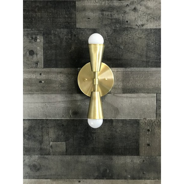 Famous Felsted Matte Black 2 – Bulb Outdoor Armed Sconces Intended For Everly Quinn Caputo Wall Art 2 Light Armed Sconce (View 5 of 20)